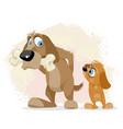 greedy dog with a bone vector image