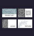 greeting card set made of hand drawn branches vector image vector image