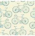 Hand-drawn Bicycles Seamless Pattern Vintage retro vector image vector image