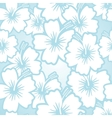 Hibiscus floral pattern vector image vector image