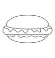 hot dog icon outline style vector image vector image