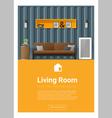 Interior design Modern living room banner 3 vector image vector image