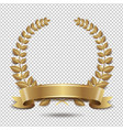laurel wreath isolated transparent background vector image vector image