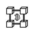 line blockchain icon vector image