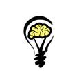 Logo light bulb with concept ideas