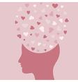 Love head vector image vector image