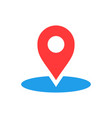 map pointer in flat style gps navigation mark on vector image vector image