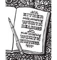 notebook pen and benjamin franklins quote vector image vector image