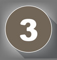 number 3 sign design template element vector image vector image
