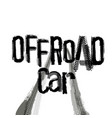 off-road lettering image vector image vector image