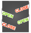 open and close signs vector image vector image