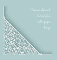 Paper lace corner vector image vector image