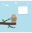paper owl vector image vector image