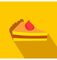Piece of cake flat icon vector image vector image