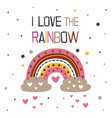 poster with lovely rainbow vector image vector image