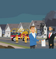 property insurance in case of fire concept vector image vector image