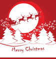 santa claus on a sleigh with deer vector image vector image