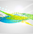 science template banner with a dna molecules vector image vector image