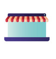 screen with tent isolated icons vector image
