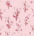 seamless pattern siringa and galantus flowers vector image