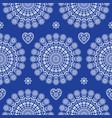 seamless scandinavian folk mandala pattern vector image vector image