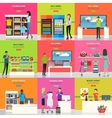 Set of Advertisement Posters Shopping Banner vector image vector image