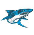shark angry blue mascot logo vector image