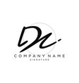 signature initial logo template vector image vector image