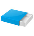 slider box blue blank open box mock up vector image vector image