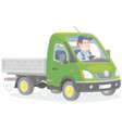 small green truck vector image