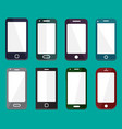 smartphone flat icons vector image vector image