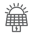 solar panel line icon ecology and power sun vector image