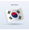 South Korea flag waving form vector image