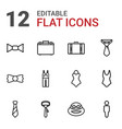 suit icons vector image vector image