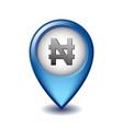 symbol nigerian money on map pointer vector image vector image