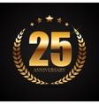 Template Logo 25 Years Anniversary vector image