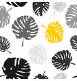 tile tropical pattern with exotic leaves on white vector image vector image