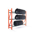 tire rack storage vector image vector image