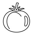 tomato food icon outline style vector image vector image