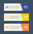 triangle banner template design with horizontal vector image vector image