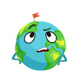 vexed earth planet character with hands on its vector image vector image