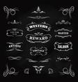 western badge hand drawn blackboard banners vector image vector image
