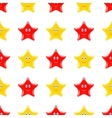 Yellow Red Smiling Star Seamless Pattern vector image vector image