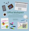 website banner of a business design concept top vector image