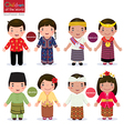 Children of the world Singapore Malaysia Timor vector image