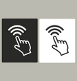 touch - icon vector image
