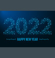 2022 new year made by points and line vector image vector image