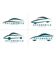 Abstract shapes logo icon for car or automobile vector image vector image