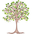 apple tree with green apples vector image