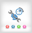 assistance time icon vector image